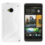 TPU CASE S-LINE FÜR HTC ONE M7 WEISS