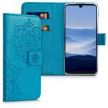 Wallet Case Huawei P30 Lite Blumen Zwillinge Blau