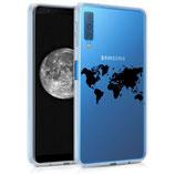 TPU Case Samsung Galaxy A7 (2018) Weltkarte