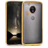 TPU Case Hülle Motorola Moto G5 Fee Gold