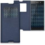 Flip Case Sony Xperia XA1 Fenster Blau
