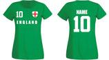 England WM 2018 T-Shirt Damen Grün