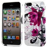 Apple iPhone 5 Schutzhülle Cover Case Purple Flora
