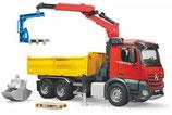Bruder 03651 - MB Arocs LKW Baustelle mit Kran Bruder Profi-Serie