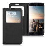 Flip Case Samsung Galaxy S7 Fenster Schwarz