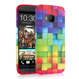 TPU Case Cover HTC One M9 Regenbogen