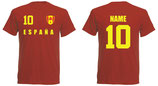 Spanien WM 2018 T-Shirt Name/Druck Rot