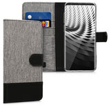 Wallet Case Samsung Galaxy S9 Plus Canvas Grau-Schwarz