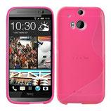 TPU Schutz Hülle HTC One M8 Pink Cover