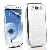 Luxus Cover Carbon White für Samsung Galaxy S3 S III i9300