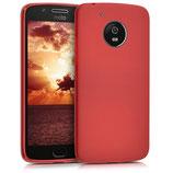 TPU Case Hülle Motorola Moto G5 Rot matt