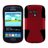 Gel Silikon Case Samsung Galaxy S3 Mini Rot