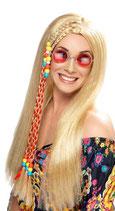 Hippie Perücke blond Strähne