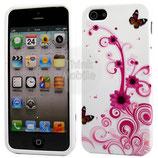 Apple iPhone 5 Schutzhülle Cover Case Schmetterling Blume