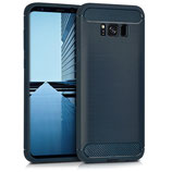 TPU Case Samsung Galaxy S8+ Brushed Blau