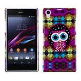 Hard Case für Sony Xperia Z1 Eule Owl Lila