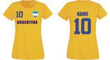 Argentinien WM 2018 T-Shirt Damen Gelb