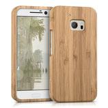 Bambus Hülle HTC 10 Case Hellbraun