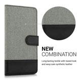 Wallet Case Hülle Samsung Galaxy S7 Edge Grau-Schwarz