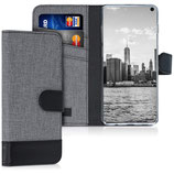Wallet Case Samsung Galaxy S10 Canvas Grau-Schwarz
