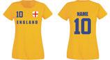 England WM 2018 T-Shirt Damen Gelb