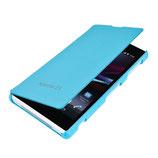 Flip Schutz Hülle Sony Xperia Z1 Hellblau