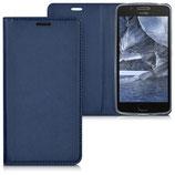 Flip Case Cover Motorola Moto G5 Dunkelblau