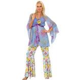 Patry-Partners 87306 Damen-Kostüm Hippie Woman Einheitsgröße