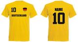 Deutschland WM 2018 T-Shirt Name/Druck Gelb