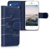 Wallet Case Apple iPhone SE/5/5S Live Laugh Love