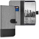 Wallet Case Samsung Galaxy S8+ Canvas Grau