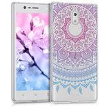 TPU Case Hülle Nokia 3 Sonne Pink Blau