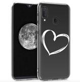 TPU Case Hülle Samsung Galaxy A20e Herz