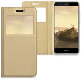 Flip Case Huawei P10 Lite Fenster Gold