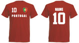 Portugal WM 2018 T-Shirt Name/Druck Rot