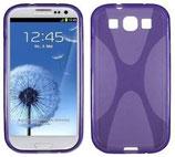 Silikon Case Tasche Samsung Galaxy S3 i9300 Hülle Lila