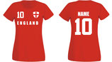 England WM 2018 T-Shirt Damen Rot
