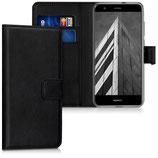 Wallet Case Hülle Huawei P10 Lite Schwarz