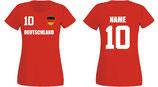 Deutschland WM 2018 T-Shirt Damen Rot
