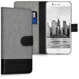 Wallet Case Hülle Huawei P10 Canvas Grau