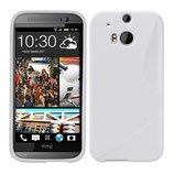 TPU Schutz Hülle HTC One M8 Weiss Cover
