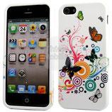 Apple iPhone 5 Schutzhülle Cover Case Schmetterling farbig
