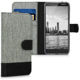 Wallet Case Nokia 3.1 (2018) Canvas Grau-Schwarz