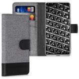 Wallet Case Huawei P40 Canvas Grau-Schwarz