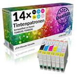 14x Tintenpatronen Epson T0481 - T0486