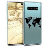 TPU Case Samsung Galaxy S10 Plus Weltkarte