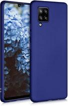 TPU Case Hülle Samsung Galaxy A42 Mettalic Blau