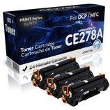 3x Toner Schwarz HPCE278A / 78A Laserjet
