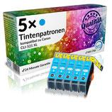 5x Tintenpatronen Canon CLI-521C Cyan