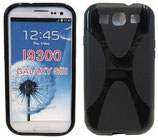 Silikon Case Tasche Samsung Galaxy S3 i9300 Hülle schwarz
